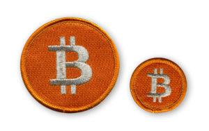Naszywki z logo Bitcoin