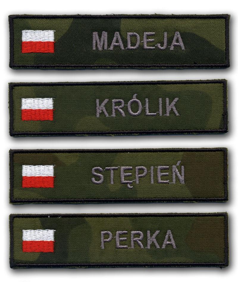 Naszywki Imienniki wz.93 z flagą polski