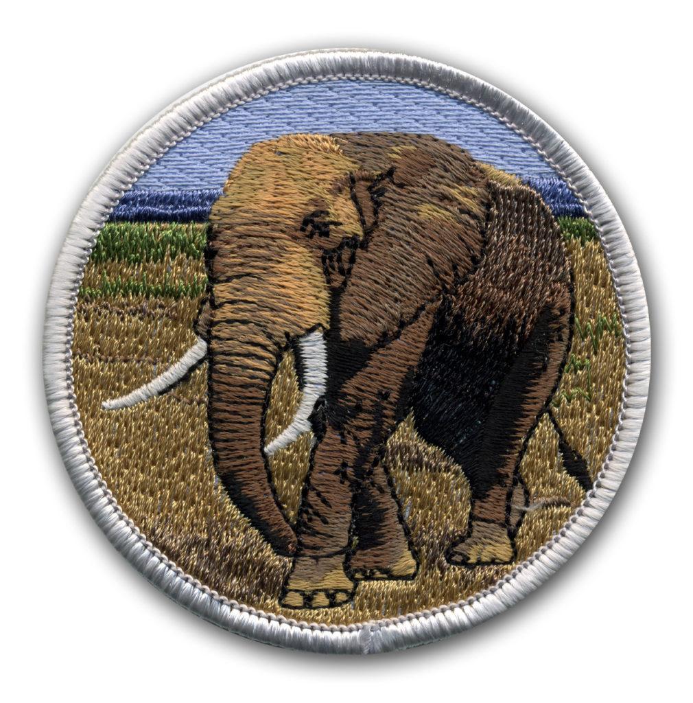 Naszywka Słoń - istotny dobrej jakości projekt