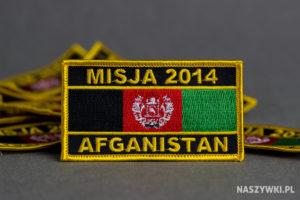 naszywka misja afganistan 2014