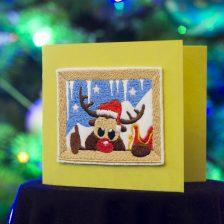 Kartki świąteczne z naszywkami – 3 pomysły